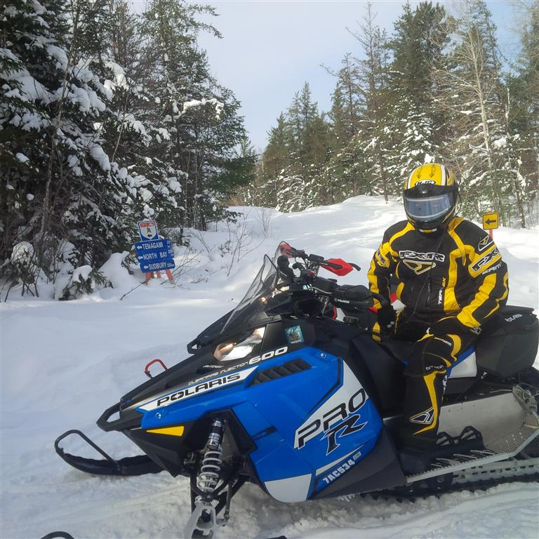 Snowmobiling Trails on Lake Temagami. Ontario