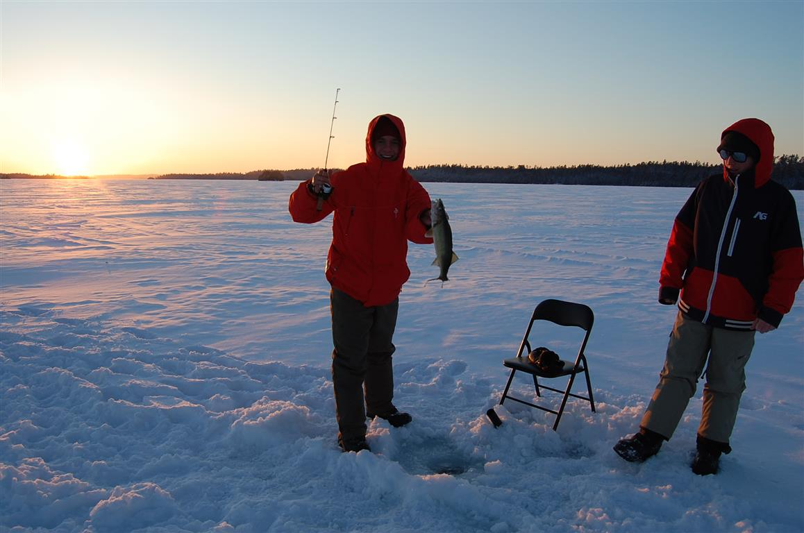 Ice fishing huts for rent